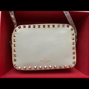 Valentino multi color rock stud camera bag